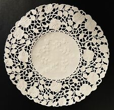 """50 - 10"""" Ivory ROSE FLORAL Lace Paper Doilies   White Paper Lace Doily"""