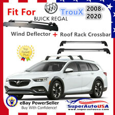 Top Roof Rack Fits Buick Regal TourX 2008-2020 Luggage Crossbar+Wind Deflector