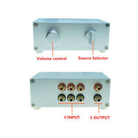 Passive Preamp Pre-Amplifier Switch Box Dact type attenuator volume Control HIFI