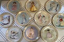 "Hamilton Plates Maud Humphrey Bogart ""Little Ladies"" - Full Set Of 10 Collector"