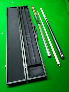 pro 147 quality pool snooker cue set with lockable case & aluminium extension