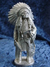 PERTH PEWTER SUPERIOR MODELS WA03 - SIOUX CHIEF - 90mm WHITE METAL KIT NUOVO