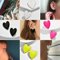 New Fashion Love Heart Enamel Ear Stud Earrings For Women Party Jewellery Gift