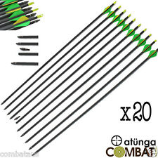 """20x 30"""" CARBON FIBRE ARROWS 4 COMPOUND OR RECURVE BOW TARGET ARCHERY HUNTING NEW"""
