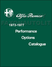 1973-1977 Alfa Romeo Performance Options Parts Catalog