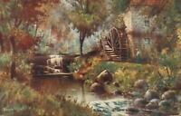 "1910 VINTAGE RIGG MILL near WHITBY POSTCARD ""Dainty"" Series - sent to Bradford"