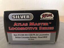 Atlas Silver Master ho scale Locomotive C420 Ph 2b British Columbia Railway NIB