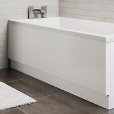 1600mm Modern Acrylic Side Front Bath Panel Gloss White Finish Essentials Range