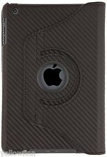 Tutto Tablet Case Cover 360 GRADI SUPPORTO PER IPAD MINI 2 & 3-NERO CARBONIO