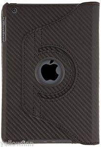 Everything Tablet Case Cover 360 Degree Stand for iPad Mini 2 & 3 - Black Carbon