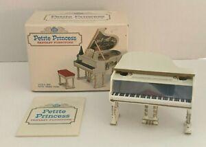 1964 IDEAL Petite Princess Royal White/Gold Grand Piano, Metronome, Music & Box