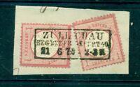 Adler mit grossem Brustschild Nr. 19 auf Briefstück Stempel Zülichau