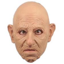 BALD OLD MAN CHINLESS HEAD MASK LATEX HORROR HALLOWEEN