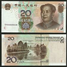 "China 2005 GEM UNC 20 Yuan ""CRISP"" Banknote Money Bill P-905"