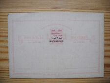 Comp. de Mocambique 1898 overprinted PS Stationery Card Centenario da India