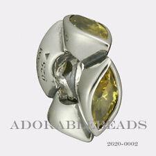 Authenitc Chamilia Soho Collection Silver Midtown Marquis Yellow Bead 2620-0002