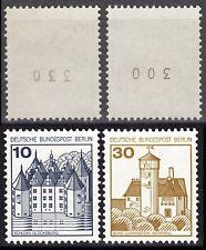 Berlin 532 II R + 534 II R ** Letterset postfrisch mit Zählnummer MUSTERBILD