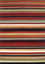 5x8 Area Rug Modern Contemporary Design Rainbow Striped  High Quality Carpet New