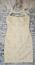 David Meister Coctail Dress sz 6 Campagne Ivory Gold Sleevless Mini Stunning