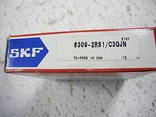 SKF 6309-2RS1/C3GJN Single Row Bearing, ID 45mm OD 100mm W 25mm - NEW