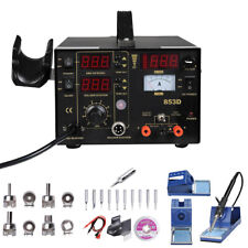 3In1 Soldering Rework Station Digital SMD Solder Iron Air Gun DC Power Supply