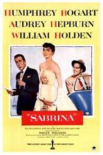 AUDREY HEPBURN MOVIE POSTER ~ SABRINA 27x40 Humphrey Bogart William Holden