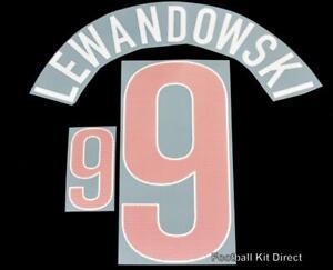 Official Poland Lewdandowski 9 euro 2012 Football Name/Number Set Away Kit