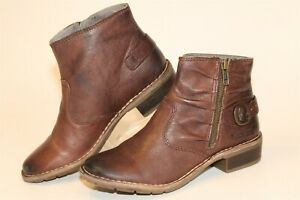 Kickers Womens 36 6 Brown Leather Ruched Harness Ankle Comfort Boots