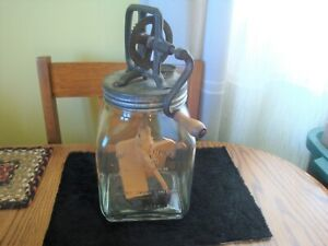 Antique Original Dazey Glass Butter Churn #40 St Louis MO Patented Feb 14 1922