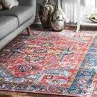nuLOOM Florence Vintage Persian Area Rug 5 ft 5 in x 8 ft Red