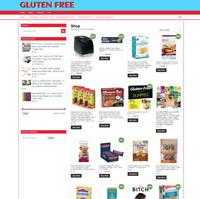 GLUTEN FREE FOOD WEBSITE - 1 YEARS HOSTING & NEW DOMAIN - GREAT NICHE