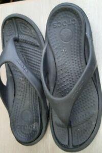 Crocs flip flops slider black size  10