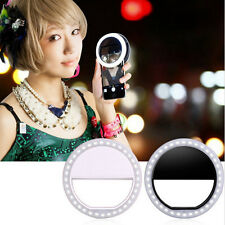 Selfie LED Ring Flash Fill Light Clip Camera For SmartPhone Samsung Huawei Black