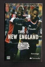 New England Revolution--2013 Pocket Schedule--Pro Shop