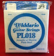 D´Addario Gitarrensaiten PL018 für akustische oder elektrische Gitarre -10 Stück