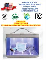 Portable UV Ultraviolet 13 Strong LED Light Sterilizer Bag - Kills 99.9% Germs