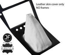 WHITE TOP GRAIN REAL LEATHER GEAR GAITER FITS S13 240SX 200SX 180SX 1988-1993