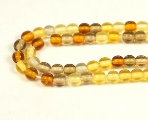 "Czech Glass Round Beads 4.00 mm "" MIXTURE TOPAZ "" 100 Beads"
