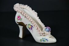 VINTAGE DRESDEN LACE HAND PAINTED SHOE GERMANY