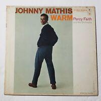 Johnny Mathis w/ Percy Faith Orchestra – Warm: Columbia 1957 Vinyl LP (Pop)