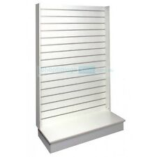 Slatwall Wall Gondola Shop Display Stand Slat Panels White