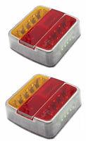 2 x  LED Rückleuchte Rücklicht Kennzeichenbel für einen PKW-Anhänger 12V