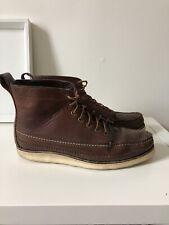 Yuketen Brown Leather Boots Size UK 8 (fit Uk 9)