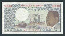 F.C. GABON , 1000 FRANCOS 1978 , B/C+ ( FINE+ ) , P.3c .