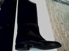 stivali neri alti in pelle da donna numero 38 1/2 marca Burda come nuovi