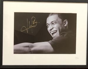 Kylian Mbappe Hand Signed Gold Autographed Auto Framed Photo 87/100.