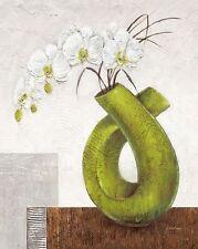 Karsten Kirchner: Supreme Leinwand-Bild 24x30 modern grün Stillleben floral Deko