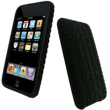 iGadgitz Silicone Skin Case Cover With Screen Protector Tyre Tread Design for
