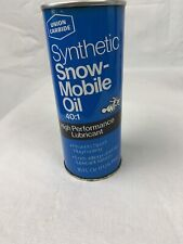 VINTAGE UNION CARBIDE SYNTHETIC SNOWMOBILE OIL FULL UNOPENED PINT OLD OIL CAN