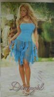 Blue Bandeau Lace Strapless Dress L UK 12-14 Dreamgirl Gypsy